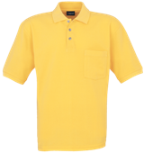 Unisex Pique Polo Shirt with Pocket - Yellow