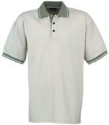 Pique Polo Shirt Contrasted - Beige