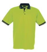 Pique Polo Shirt Contrasted - Lime