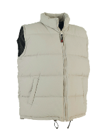 Micro Fibre Cotton Quilted Waistcoat - Beige