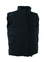Micro Fibre Cotton Quilted Waistcoat - Black