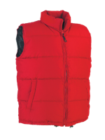 Micro Fibre Cotton Quilted Waistcoat - Red