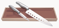 2 Piece Knife Set - Silver