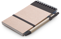 Eco Notepad & Pen - Black