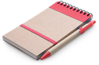 Eco Notepad & Pen - Red