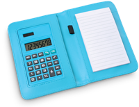 Abcus Calculator Notepad - Blue