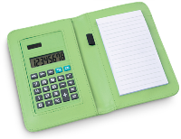 Abcus Calculator Notepad - Green