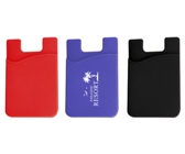 Silicone Phone Card Holder - Avail in: Black, Red, Blue