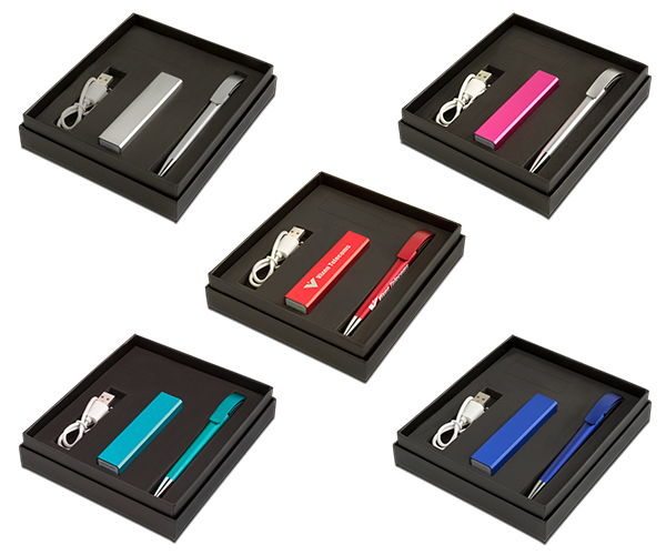 Tech Executive Gift Set - Avail in: Pink, Red, Blue, Aqua or Sil