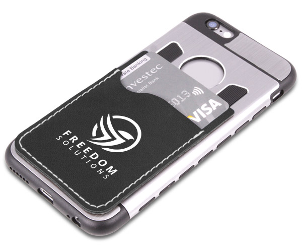 Adhesive Cell Phone Card Holder - Avail in: Black