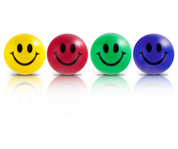 Smile Stress Ball - Avail in: Red, Yello, Blue or Lime