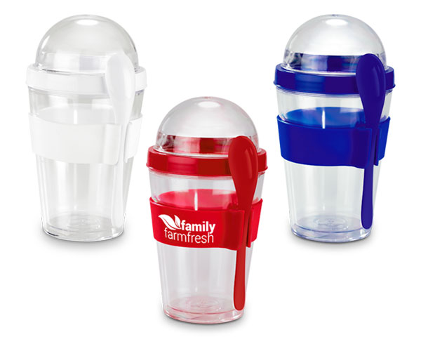 Yo-On-The-Go Breakfast Cup - Avail in: Black, White or Red