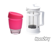 Kooshty Single Koffee Set White Press - Avail in: White, Pink, R