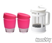 Kooshty Double Koffee Set White Press - Avail in: White, Pink, R