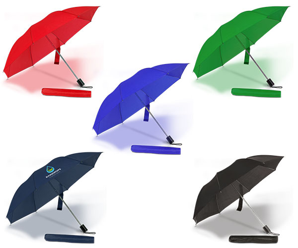 Essentials Compact Umbrella - Avail in: Black, Red, Green, Royal