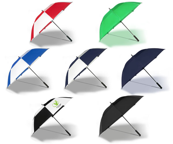 Shield Golf Umbrella - Avail in: Black/White, Red/White, Royal/W