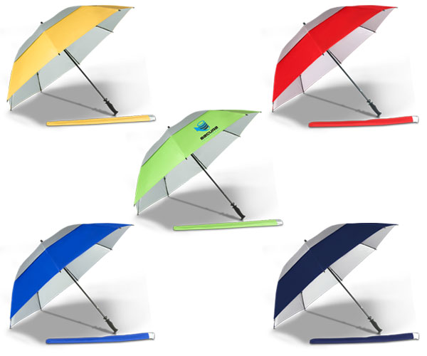 Eagle Golf Umbrella - Avail in: Red/Silver, Yellow/Silver, Royal