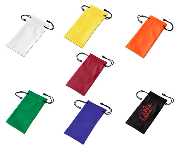 Sunglasses Pouch - Avail in: Black, White, Orange, Red, Green, Y