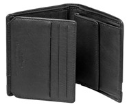 Cellini Centro  Billfold With Extra Card Flap Mocca  Black