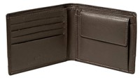 Cellini Centro  Billfold With Coin Section Mocca  Black
