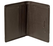 Cellini Centro  Mini Card Billfold Mocca  Black