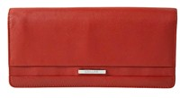 Cellini Centro  Clutch Purse Mocca  Black  Red