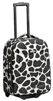 Cellini Flair  Carry-On Trolley Brown Floral  Giraffe  Plum Circ
