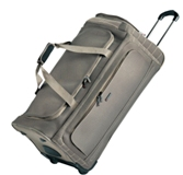 Cellini Microlite  Large Trolley Duffle Mocca  Jet Black  Gold