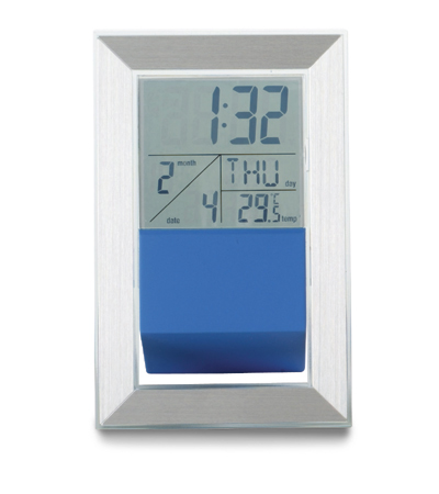 Square Desk Clock with Weather Station - Ass Colours