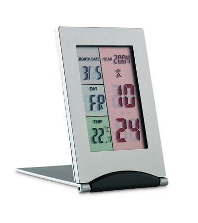 Alarm Clock with Calender and Weather Station (Colour)
