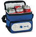 Cooler bag with AM/FM radio.
