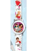Licenced Kiddies Hsm Rnd Diamante Case Pu Strap Wrist Watch