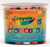 Mini Kids 24'S Jumbo Crayons - Min Order: 12 units