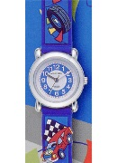 Jacques Farel Jf Kids Blue Car Wrist Watch