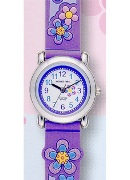 Jacques Farel Jf Kids Flower Purple Wrist Watch