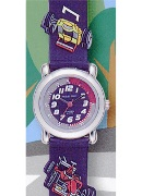 Jacques Farel Jf Kids Black Racing Car Wrist Watch