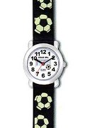Jacques Farel Boys Soccer Keychain Gift Set Wrist Watch