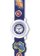 "Jacques Farel Boys ""Glow In Dark"" Car Strap Wrist Watch"