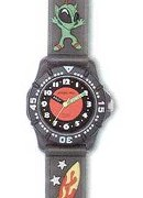 "Jacques Farel Boys ""Glow In Dark""Space Strap Wrist Watch"