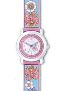 "Jacques Farel Girls ""Smells Nice""B/Fly Strap Wrist Watch"