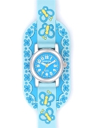 Jacques Farel Girls Smells Nice Lblue Strap Wrist Watch