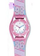Jacques Farel Girls Dynamic Sport Pink Strap Wrist Watch