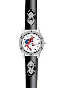 Licenced Kiddies Spiderman Black Strap White Dial Wrist Watch