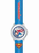 Licenced Kiddies Superman Blu Strap Smooth Dial Wrist Watch