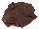 Jekyll & Hide Leather Jacket JH02 - Burnt Brown, Organic Sheep (
