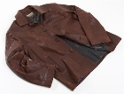 Jekyll & Hide Leather Jacket JH03 - Burnt Brown, Organic Sheep (