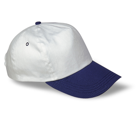 Kids baseball cap with coloured visor and adjustable strap
