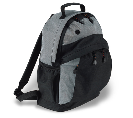 Backpack in two tone (44x34x16 cm)