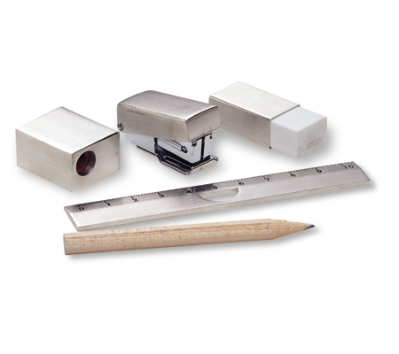 Metal mini stationary set - 5 pieces, Aluminium