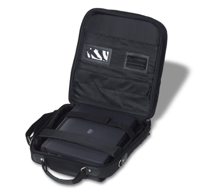 Laptop bag extra pockets, also usable as shoulder bag or backpac